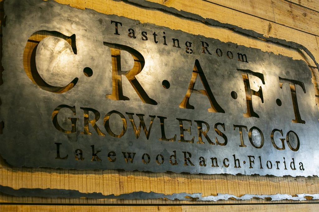 CGTG Gallery - Craft Growlers To Go Metal Sign - 941-822-8131-web